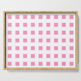square and tartan 45- pink Serving Tray