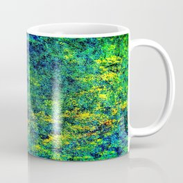 Abstract Flowers yellow and green Coffee Mug