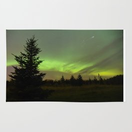 Aurora Borealis with Iridium Flare Rug