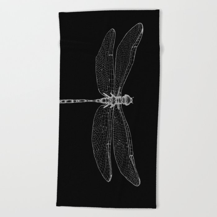Night Flyer Beach Towel