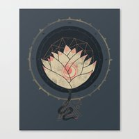 lotus Canvas Prints featuring Lotus by Hector Mansilla