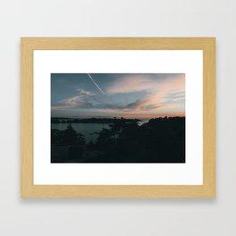 Sunset over Brännskär Framed Art Print