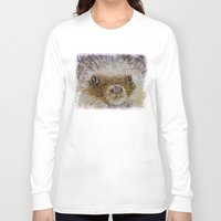 hedgehog Long Sleeve T-shirts featuring Hedgehog by Michael Creese