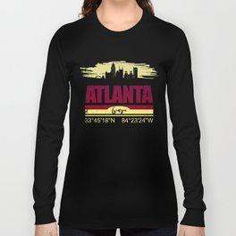 Atlanta, Geogia Gifts  Distressed Coordinates Long Sleeve T-shirt