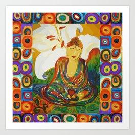 Buddha Circles Art Print