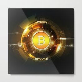 Bitcoin block chain Metal Print