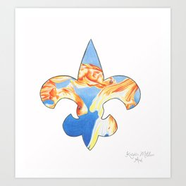 Fleur De Lis Goldfish Art Print