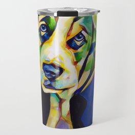 Pop Art Basset Hound Travel Mug