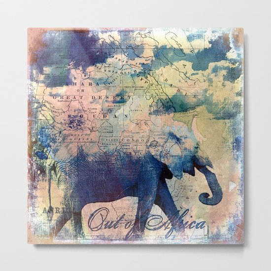 Elephants Journey Metal Print