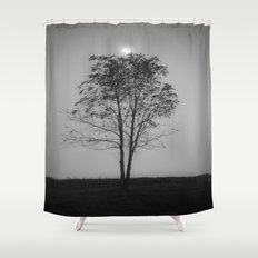 Moon over a tree Shower Curtain