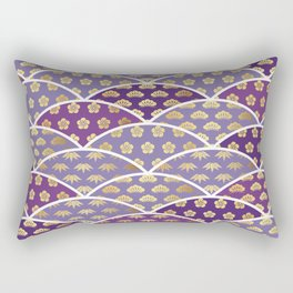 auspicious japanese fan style pattern Rectangular Pillow