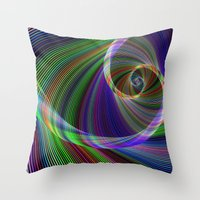 imagination Throw Pillows featuring Imagination by David Zydd