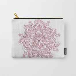 Maroon Doodle Carry-All Pouch