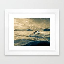 Surface Framed Art Print