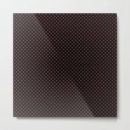 Black and Rum Raisin Polka Dots Metal Print