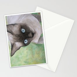 The cat in Chiangkhong in Thailand Stationery Cards