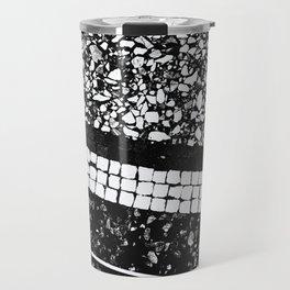 Terrazzo Pattern Black & White #1 #texture #decor #art #society6 Travel Mug