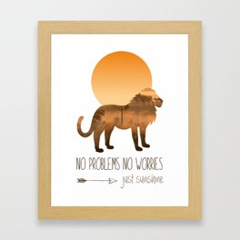 Quote No Problems No Worries Framed Art Print
