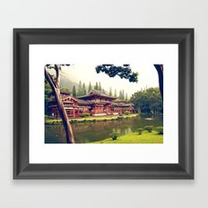 Byodo-In Temple/ Hawaii Framed Art Print