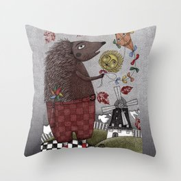 It's a Hedgehog! Throw Pillow