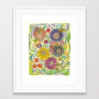 boho Framed Art Prints featuring Boho by Sand Salt Moon