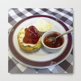 Cream tea for one Metal Print
