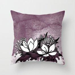 Flower Tangle Throw Pillow