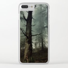 misty forest Clear iPhone Case