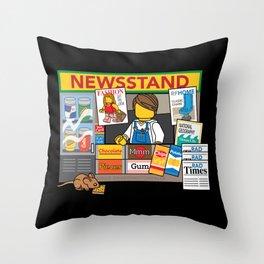 Newsstand Throw Pillow
