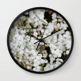 Bridal Veil Wall Clock