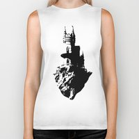 castle in the sky Biker Tanks featuring Castle by Julia Badeeva