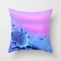 shell Throw Pillows featuring Shell by Elena Indolfi