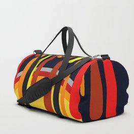 Drops & Rainbow - red - yellow - black Duffle Bag