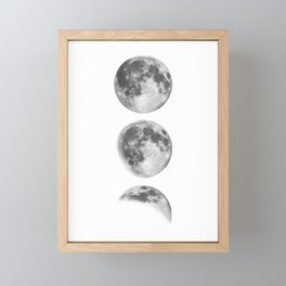 Full Moon cycle black-white photography print new lunar eclipse poster bedroom home wall decor Framed Mini Art Print