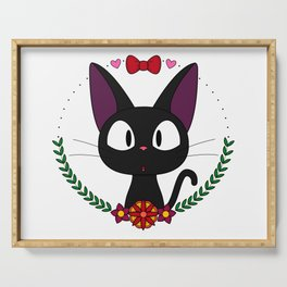 Little Black Cat Serving Tray