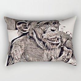 Rustic Style - young Chimp Rectangular Pillow