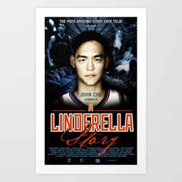 A Jeremy Lin Inspired Poster Art Print
