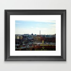 Washington DC Rooftops Framed Art Print