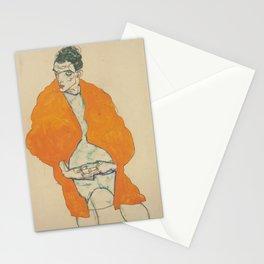 Egon Schiele Standing Man Figure Stationery Cards