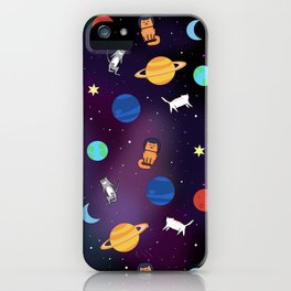 """Cats from outer space!"" Galaxy Print iPhone Case"