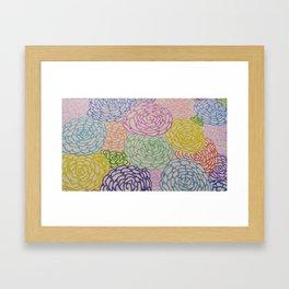 Flowers Festival Framed Art Print
