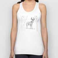 stag Tank Tops featuring Stag  by Leanna Rosengren