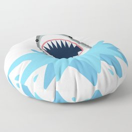 Cartoon Shark Splash Floor Pillow