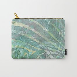 Relaxing leaves - delicate meditation green shades Carry-All Pouch