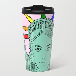 The U.S of Gay! Ken Morphed Into The Statue of Liberty Travel Mug