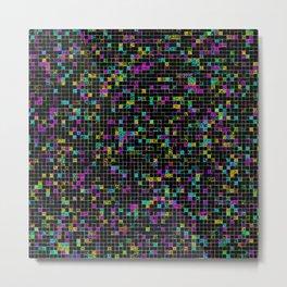 Glitch Grid Metal Print