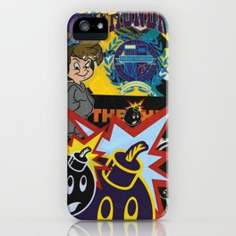 art colour new bomb fun funny cartoon swag character love hot 2018 merry letters iPhone Case