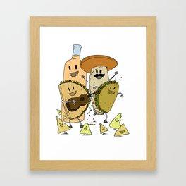 Happy Tacos Framed Art Print
