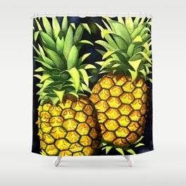 Pair of Pineapples Shower Curtain