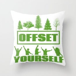 Carbon Credits Throw Pillow